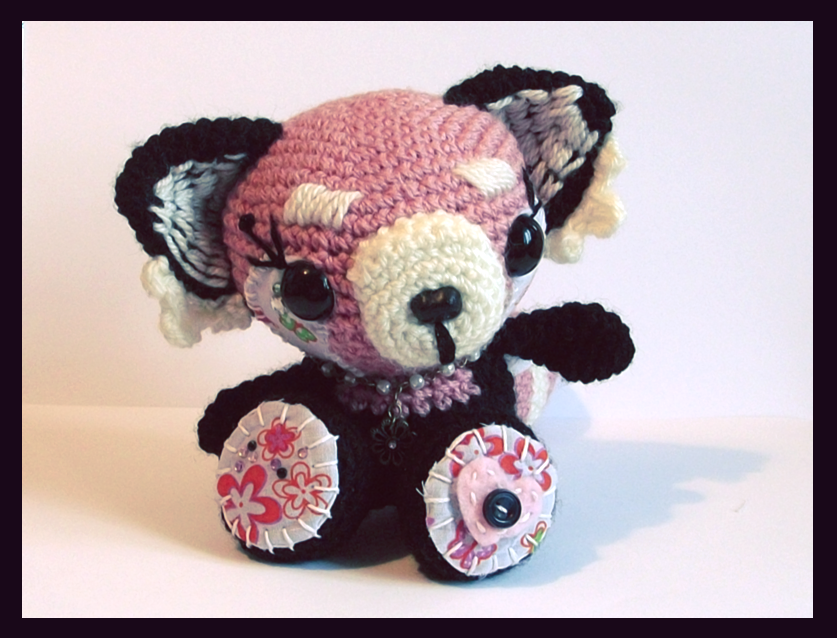 rosie the red panda amigurumi. by tiny-tea-party
