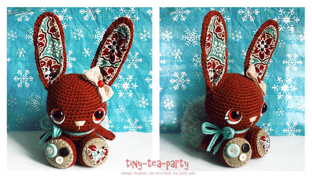 brandy the crochet amigurumi bunny - SOLD.