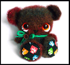 Beatle bear amigurumi teddy  - sold