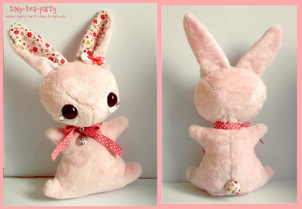 Primrose - tea party plush bunny by tiny-tea-party