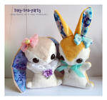 Idae and Myrtle - Teacup Bunny Commissions