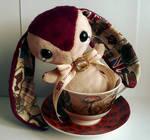 London - Handmade Teacup Bunny Plushie - For Sale!