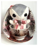 Celine - Handmade Teacup Bunny Plushie - For Sale!
