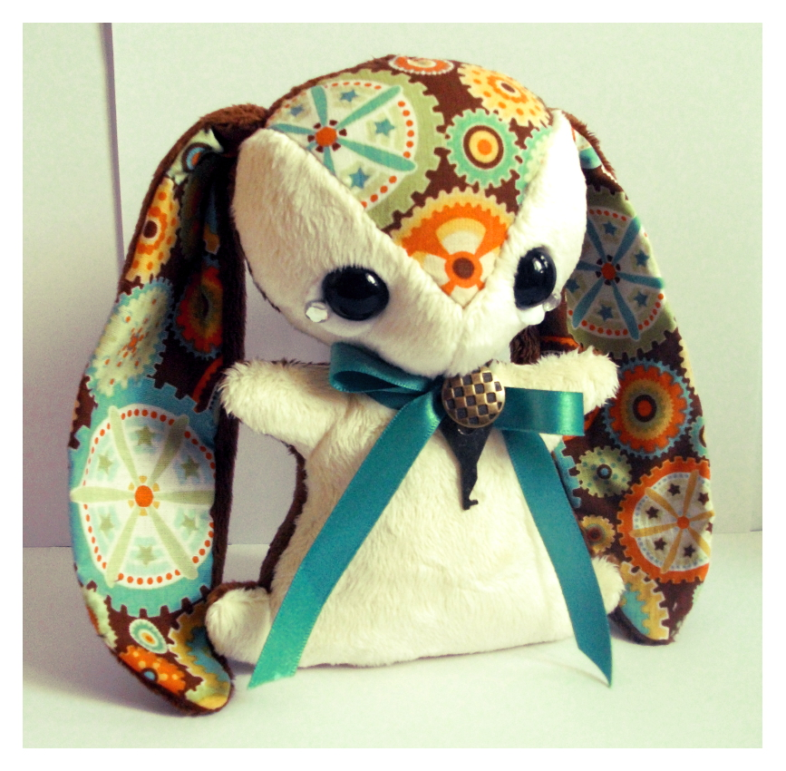 Benedict - Handmade Teacup Bunny - sold by tiny-tea-party