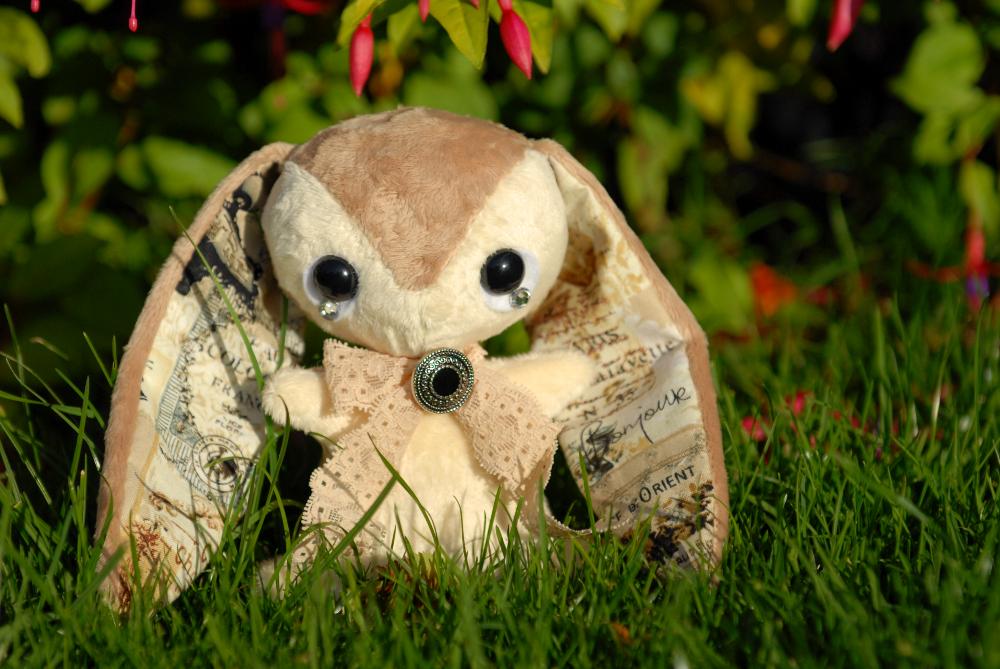 Paris - Handmade Teacup Bunny - For Sale by tiny-tea-party