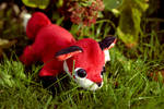 Paisley Fox Tea Party Plushie - Customs Available.