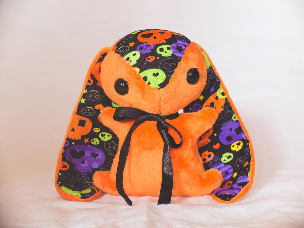 Pumpkin - Halloween Special Edition Teacup Bunny by tiny-tea-party
