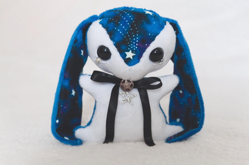 Teacup Bunny Commission - Glow in the dark plush by tiny-tea-party