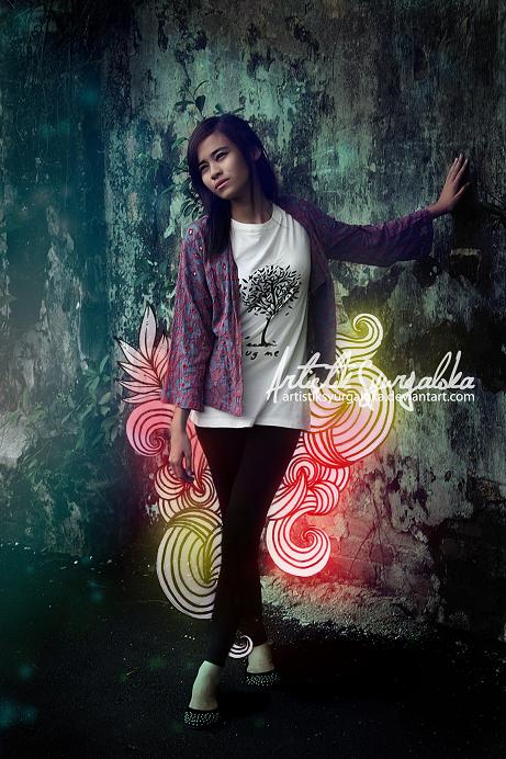 DIVE's organic cotton tshirt by artistiksyurgaloka