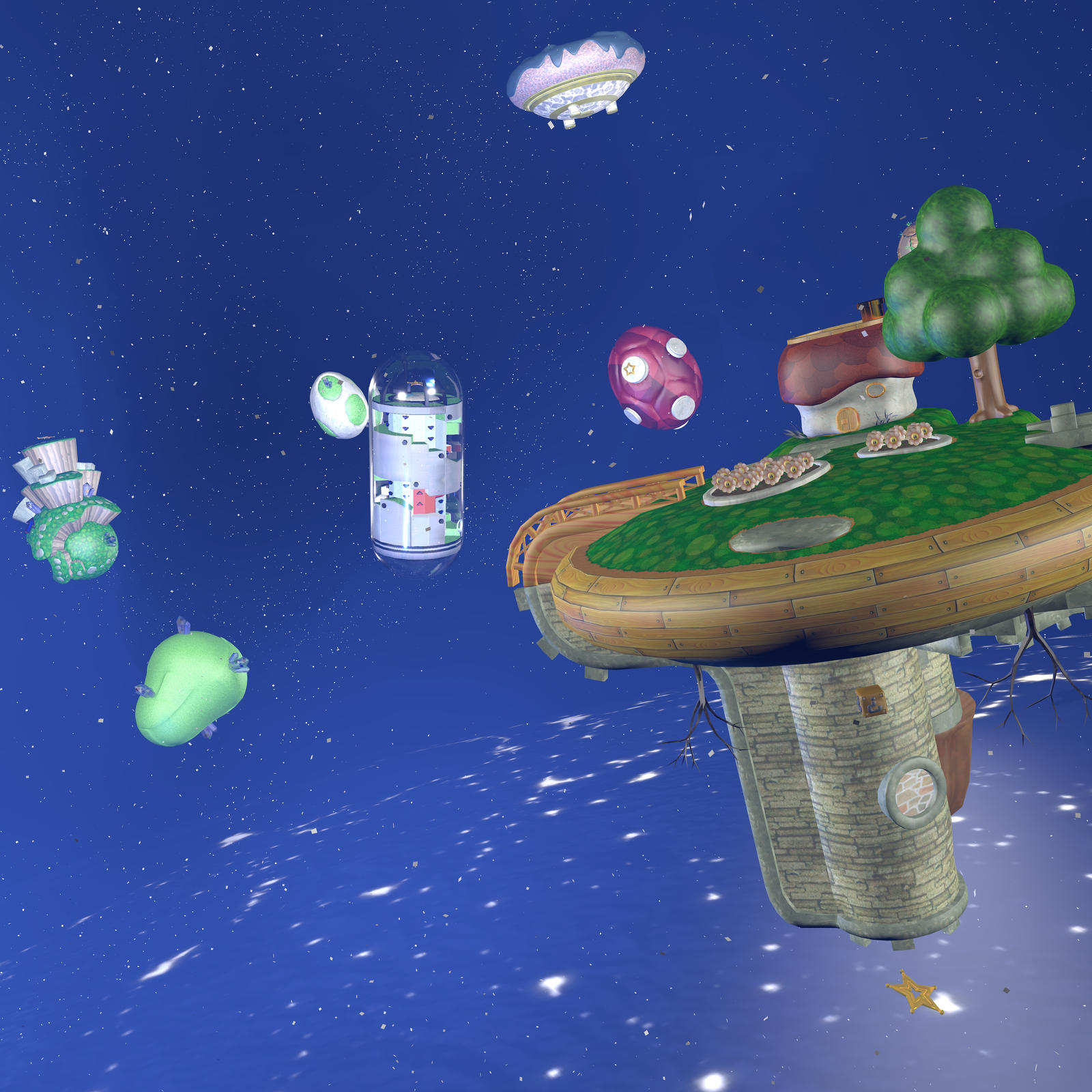 Super Mario Galaxy Hd Wallpaper By Aurelienfancraft On