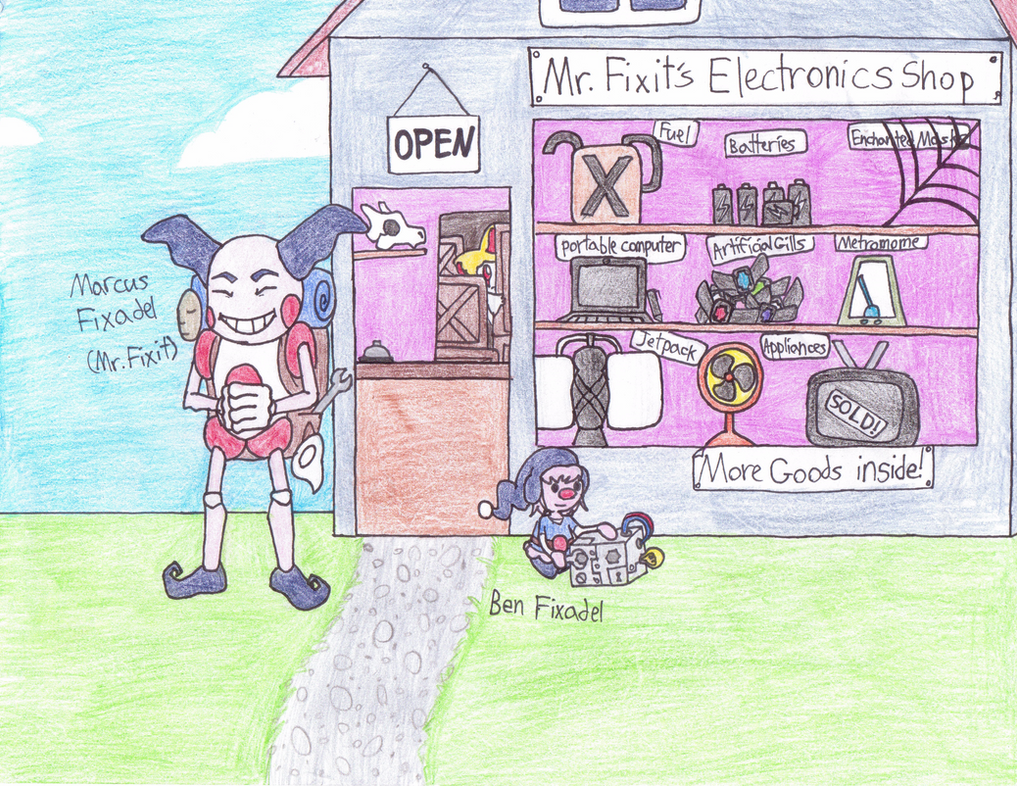 Mr. Fixit's Electronics shop by xEmoXDudetx