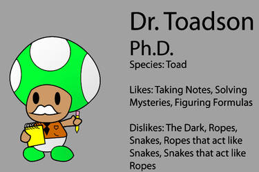 Paper Mario SB Partner: Dr. Toadson by Cyber-Hero