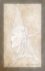 Echsaryn - Artwork - Fantasy - Sazaril - Head - 01 by Echsaryn