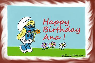 Happy Smurfday Birthday Ana by youlittlemonkey