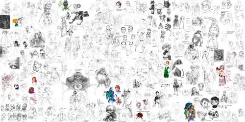 Huge sketche pannel 3 by Sony-Shock