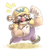 A game character a day 012-Wario by Sony-Shock