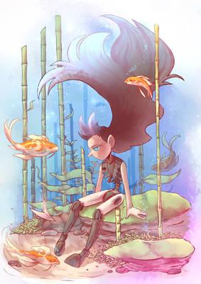 Cutler underwater