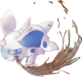 Nidoran's Sludge Bomb by Sony-Shock