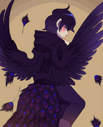 Black Peacock by Sony-Shock