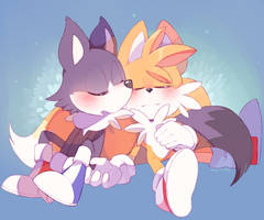 Odd and Tails napping by Sony-Shock