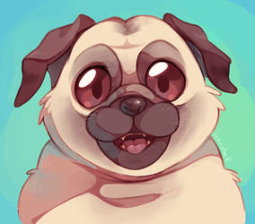 Puggy smile by Sony-Shock