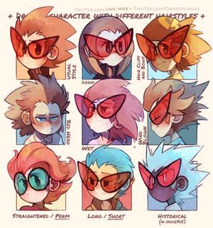 Different Hairstyles-Slash
