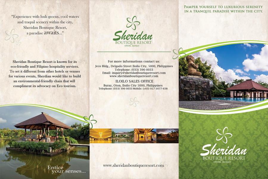 hotel brochure design inspiration - sheridan boutique resort brochure front by nikolaihoe on
