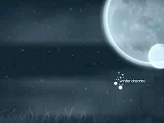 008- winter dreams wall by xerro