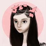 Origami Princess + Speedpaint by ninated