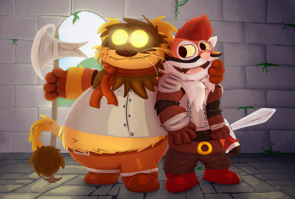 Tangui and Gree is ready for the dungeon by Toxicoow