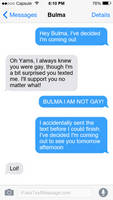 Not your normal 'coming out'