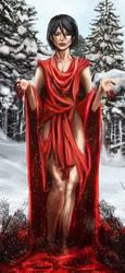 Mikasa, Crimson Snow by Neechole