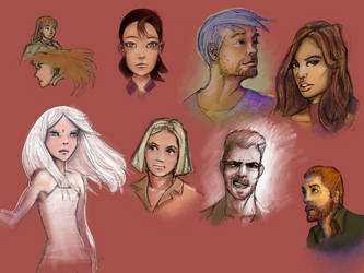 Various Portraits by hipe-0