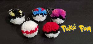 Poke Pom Keychain Balls (FOR SALE) by Wakerra