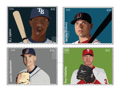 MLB Stamps by Sacal-Rose-Hitashu