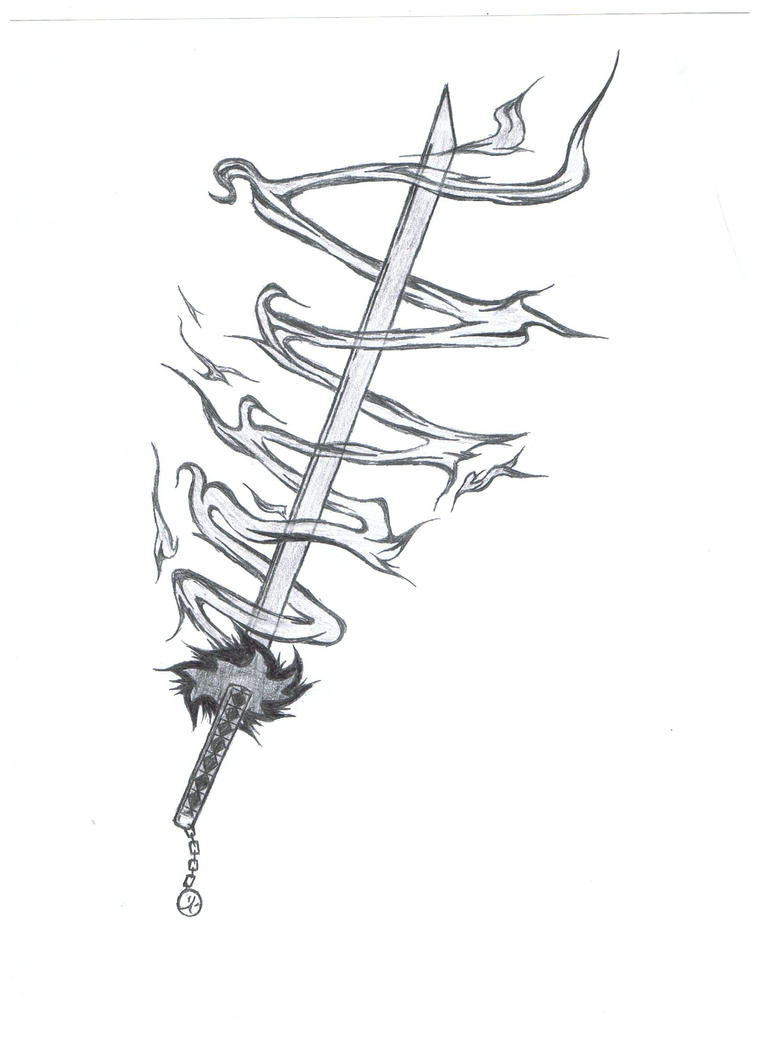 Anime Sword Drawings Sword Drawing by Tensaspiral
