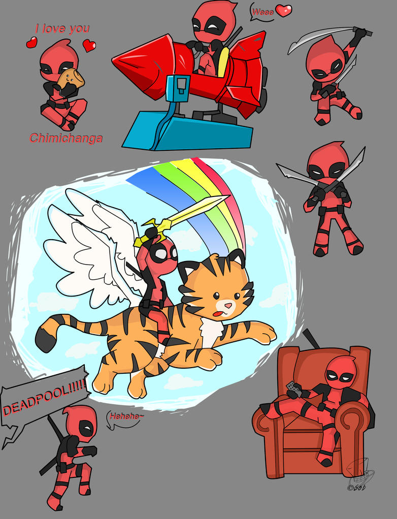 chibi deadpool drawings images amp pictures   becuo
