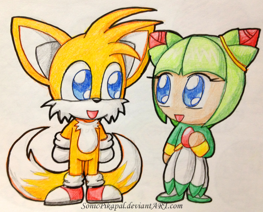Chibi tails and cosmo by sonicpikapal on deviantart