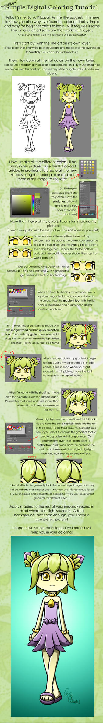 Simple Digital Coloring Tutorial by SonicPikapal on DeviantArt