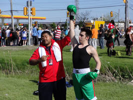 Anime North 2014 - Little Mac and Doc Louis by CallMeMrA