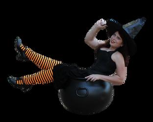 Witchy Pinup Precut Stock 1 by MelHeflin