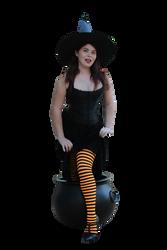 Witchy Pinup Precut Stock 2 by MelHeflin