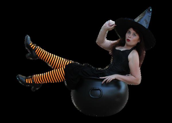 Witchy Pinup Precut Stock 3 by MelHeflin