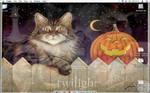 Halloween kitty desktop