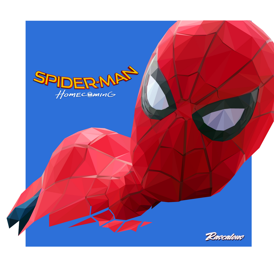 Spider-Man Homecoming low-poly vector by rascalous