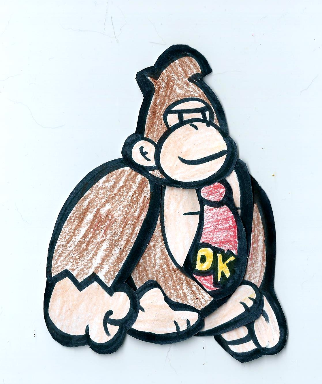 paper mario style donkey kong by greenlightning57 on