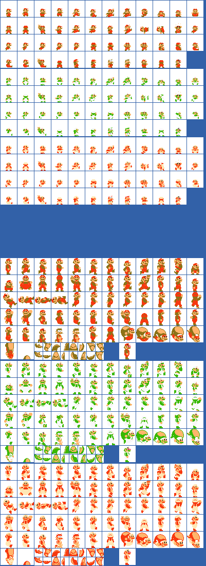 SMB1 Mario Sprites for Super Mario World by BWGLite on