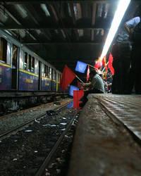 Banderas en el subte by dervishd