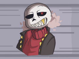 Chill Underfell Sans by SpiderWolfArts