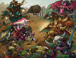 World of Warcraft Group Battle by otherdane